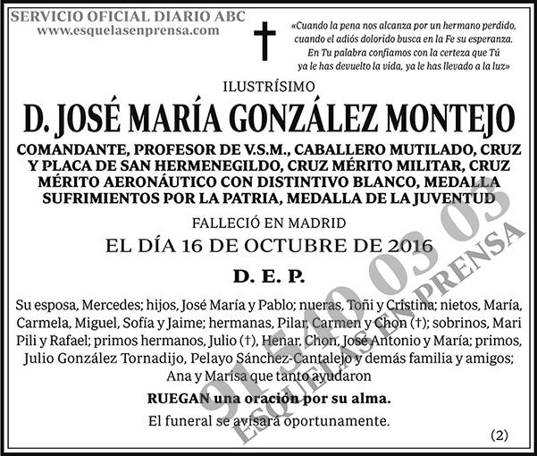 José María González Montejo
